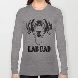 Lab Dad Black Labrador Retriever Long Sleeve T-shirt