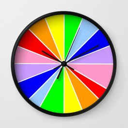 variation on the rainbow 3 Wall Clock