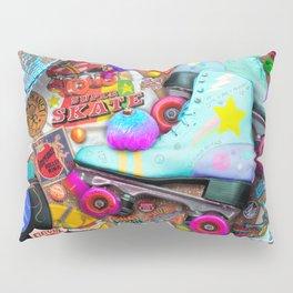 Super Retro Roller Skate Night Pillow Sham