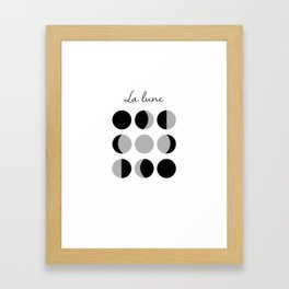 Phases of the Moon Framed Art Print