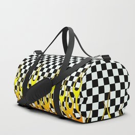 CHECKERED FLAMES Duffle Bag