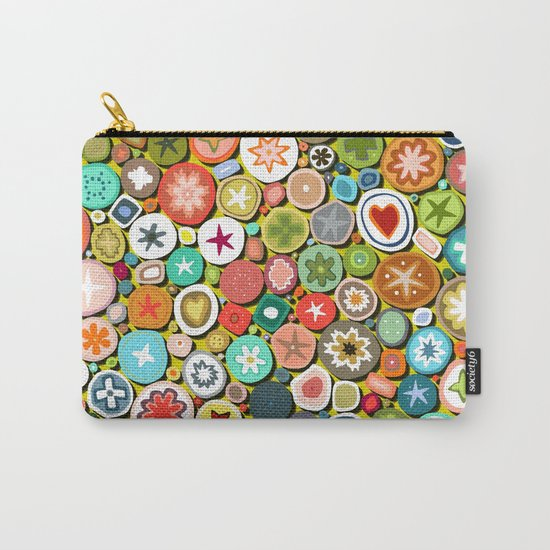 millefiori yellow Carry-All Pouch