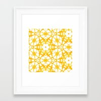 batik Framed Art Prints featuring batik floral by clemm