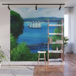 American Masterpiece 'Passing Schooner' by John French Sloan Wall Mural