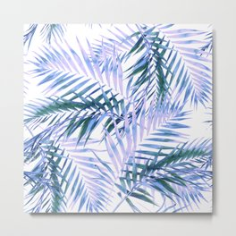 Palm Leaves Texture Pattern Metal Print