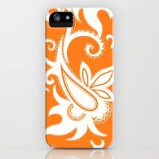 Paisley: Orange Ivory iPhone (5, 5s) Slim Case