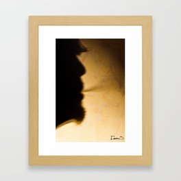 Baby can't stop smoking  Framed Art Print