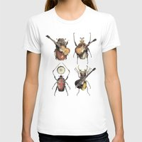 john T-shirts featuring Meet the Beetles by Eric Fan