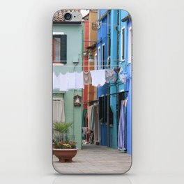 Colors of Burano Italy iPhone Skin