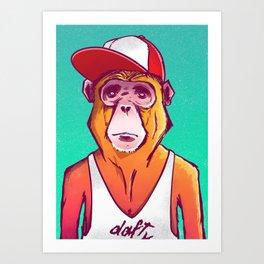 Macaco Prego Art Print