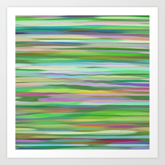 Swimming Stripes Art Print