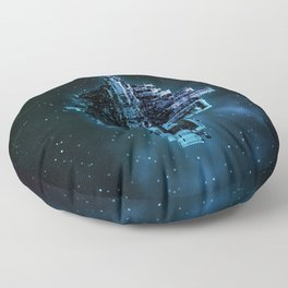 Leviathan BLUE / Keep on trucking Floor Pillow