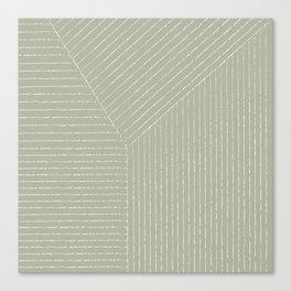 Lines (Linen Sage) Canvas Print