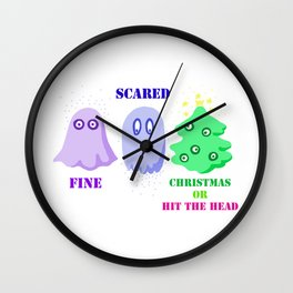 Chritmas or hit the head Wall Clock
