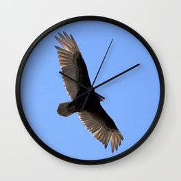 Watercolor Bird, Turkey Vulture 01, Janes Island, Maryland, What Smells? Wall Clock