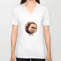 bukowski V-neck T-shirts featuring Bukowski by f_e_l_i_x_x