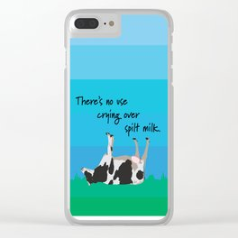 Spilt milk Clear iPhone Case