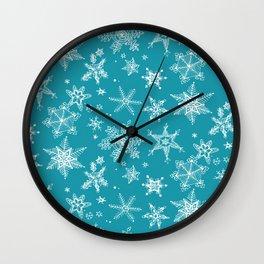 Snow Flakes 05 Wall Clock