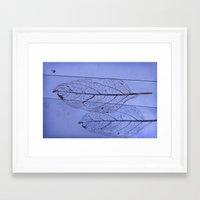 leaf Framed Art Prints featuring leaf by Bunny Noir
