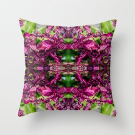 Bloody Leaves Tropical Paradice El Salvador Throw Pillow
