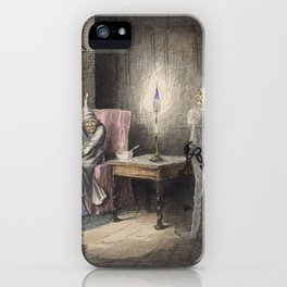 Christmas Carol - Marley's Ghost iPhone Case