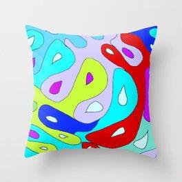 Colour bubbles Throw Pillow