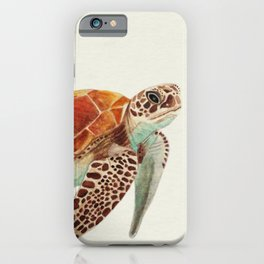 Turtle Watercolor iPhone Case