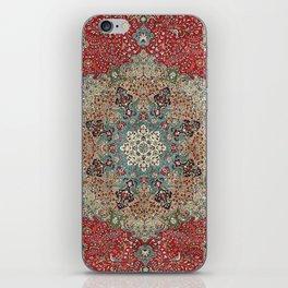 Antique Red Blue Black Persian Carpet Print iPhone Skin
