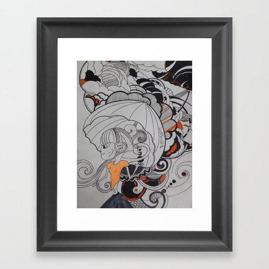 Rain falling Framed Art Print