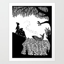 Ye Xian - The Golden Fish Art Print
