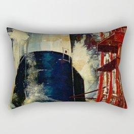 American Rocket Society Apollo Space Program Painting Motif No. 2 Rectangular Pillow
