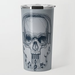 Skull Music Line Travel Mug