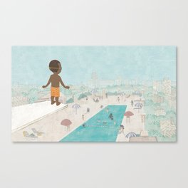 Jabari On Top of The World Canvas Print