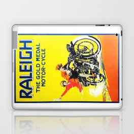 Raleigh Motorcycle, vintage poster Laptop & iPad Skin