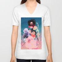 steven universe V-neck T-shirts featuring Steven Universe by Taylor Barron