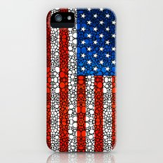 American Flag - USA Stone Rock'd Art United States Of America Slim Case iPhone (5, 5s)
