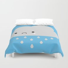 Sad Kawaii Rain Cloud Duvet Cover