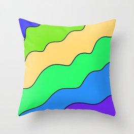 Oceanic Wavy Sectors Throw Pillow