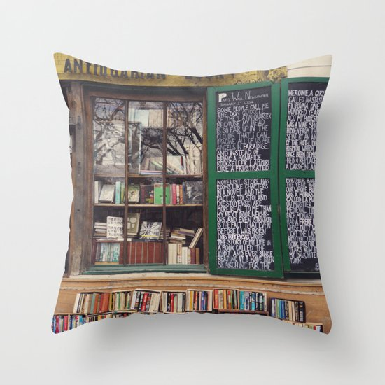 Shakespeare in Paris #2 Throw Pillow