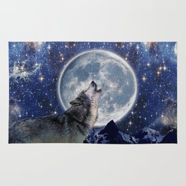 A One Wolf Moon Rug