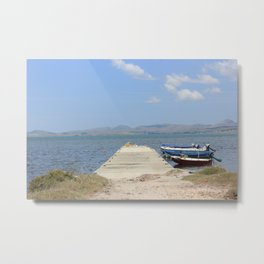 By The Boats Metal Print