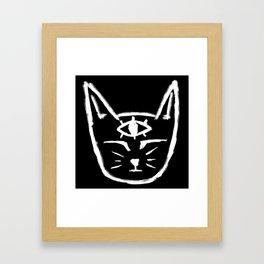 Third Eye Cat Framed Art Print