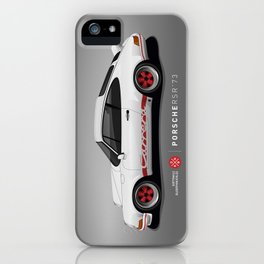 Porsche 911 2.7 RS - White/Red iPhone Case