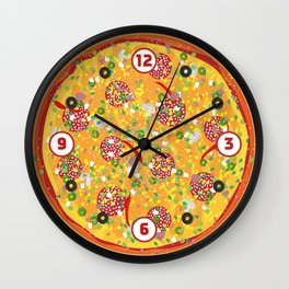 Pizza Clicker Wall Clock