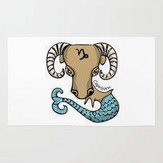 Capricorn Goat Fish Rug
