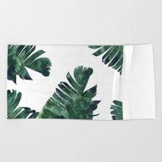 Banana Leaf Watercolor Pattern #society6 Beach Towel