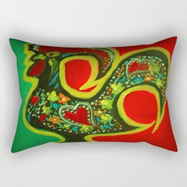 Portuguese Rooster 2 Rectangular Pillow