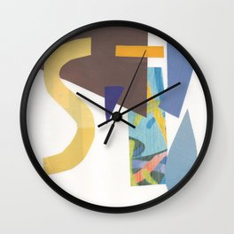 Blue Mosaic Wall Clock