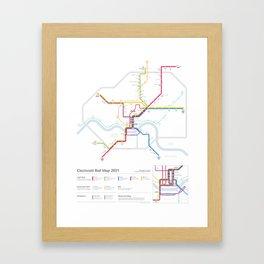 Cincinnati Rail Map 2031 Framed Art Print