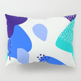 Blue abstract pattern Pillow Sham
